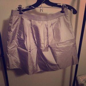 J CREW Silver Mini A Line Skirt